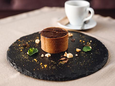 Шоколадно-карамельний тарт